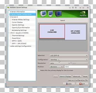 Computer Program Nvidia X.Org Server Computer Monitors Twin Vew PNG
