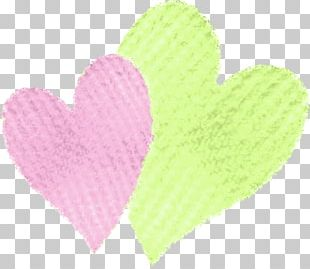 Wool Petal Pink M Heart PNG
