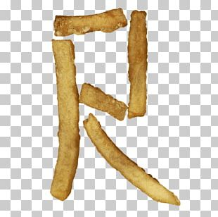 French Fries Fast Food Letter Frying Font PNG