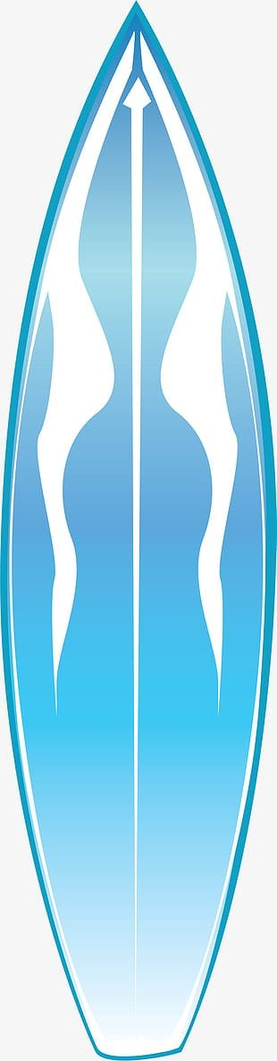 Small Fresh Blue Surf Board PNG