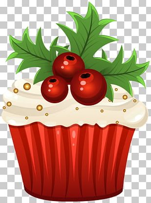 Muffin Cupcake Christmas Cake PNG