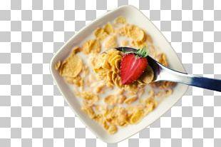Corn Flakes Breakfast Cereal Muesli Milk PNG