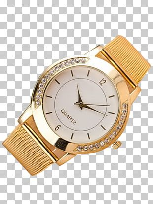 Quartz Clock Analog Watch Gold Clothing Accessories PNG