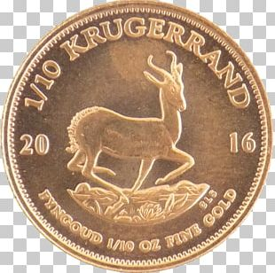 Coin Gold Rand Refinery South Africa Krugerrand PNG