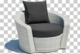 Chair Garden Furniture Wicker Couch PNG