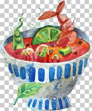 Tom Yum Korean Cuisine Prawn Soup Thai Cuisine Fruit Salad PNG