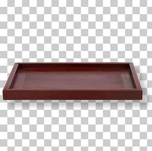 Wood Tray Table Tea Set PNG