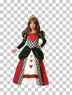 Queen Of Hearts Red Queen Costume Tutu Child PNG