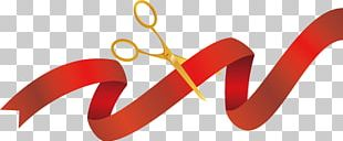 Opening Ceremony Ribbon Scissors PNG