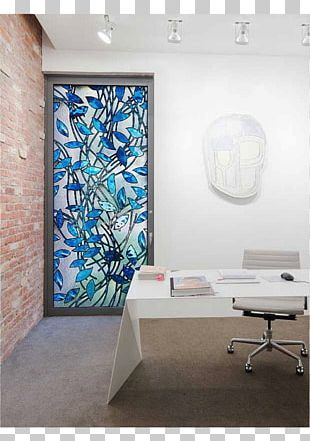 Stained Glass Blue Art PNG
