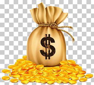 Money Bag Gold Coin Bank PNG