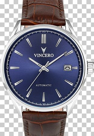 Watch Strap Leather Blue PNG