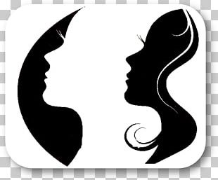 Silhouette Woman Graphic Design PNG