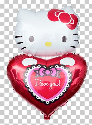 Heart Toy Balloon Love Hello Kitty You Are My Sunshine PNG