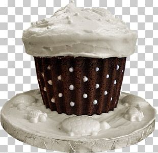Cupcake Frosting & Icing Cream White Chocolate PNG