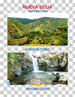 Body Of Water Nueva Ecija Landform Waterfall Caraballo Mountains PNG