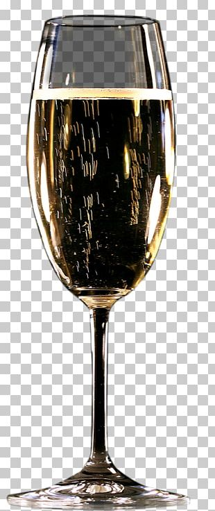 Wine Glass Gold Red PNG