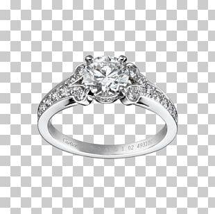 Cartier Engagement Ring Wedding Ring Diamond PNG