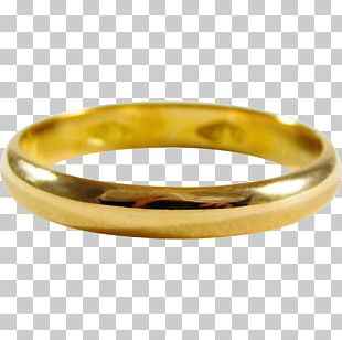 Wedding Ring Bangle Colored Gold Platinum PNG