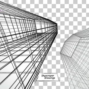 Skyscraper Architectural Drawing Architecture PNG