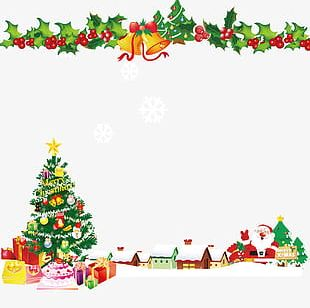Christmas Bell Christmas Tree Background PNG