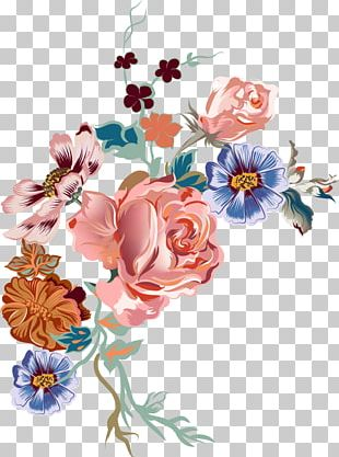 Cut Flowers Watercolor Painting Drawing PNG