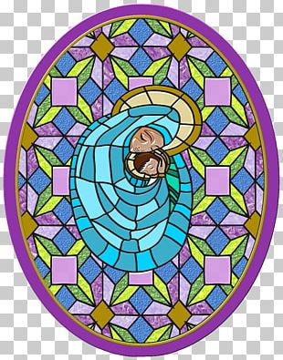 Stained Glass Window Our Lady Of Guadalupe Art PNG