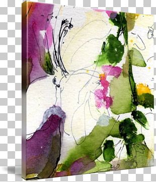 Floral Design Watercolor Painting Modern Art PNG