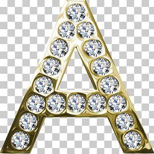 Letter Alphabet Diamond Font PNG
