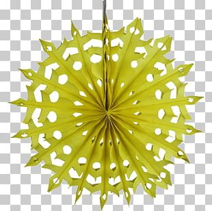 Tissue Paper Yellow Hand Fan PNG