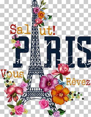 Eiffel Tower Printed T-shirt Printing PNG
