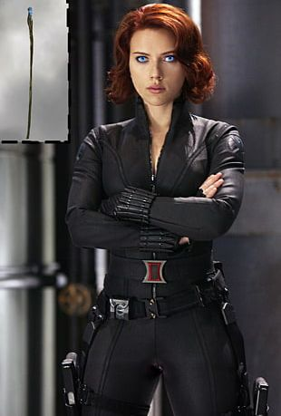 Scarlett Johansson Black Widow Captain America Iron Man Hollywood PNG