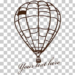 Hot Air Balloon Drawing PNG