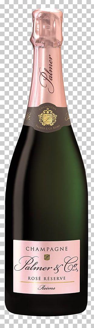 Champagne Palmer & Co Rosé Wine Côte Des Blancs PNG