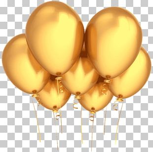 Balloon Party Gold Birthday Stock Photography PNG