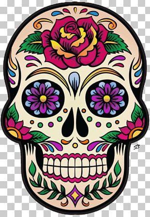La Calavera Catrina Mexico Skull And Crossbones Day Of The Dead PNG