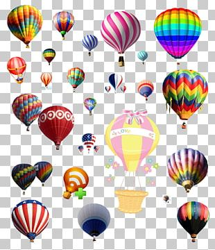 Hot Air Balloon Graphic Design PNG