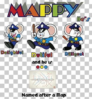 Mappy Arcade Game Video Game Logo PNG