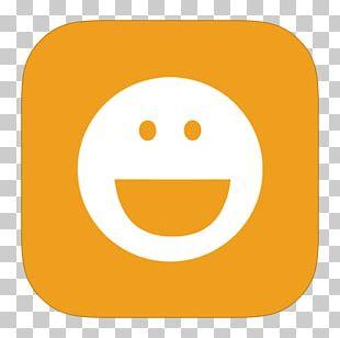 Emoticon Smiley Yellow Orange PNG