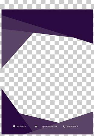 Purple Paper Flyer PNG