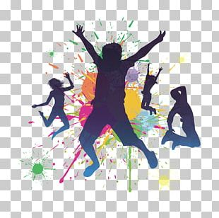 Watercolors And Dancing People PNG