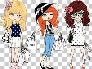 Fashion Cartoon Illustration PNG
