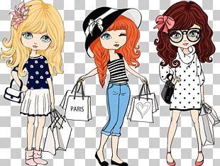 Fashion Cartoon Illustration PNG