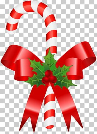 Christmas Ornament Candy Cane Gift Ribbon PNG