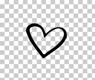 Brand Black And White Heart PNG