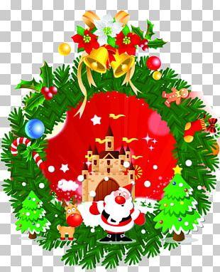 Christmas Tree Santa Claus Christmas Ornament Garland PNG
