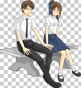 Student Cartoon Girlfriend Couple PNG