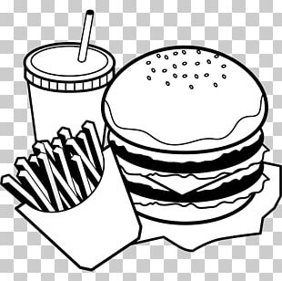Hamburger Black And White Food Monochrome Painting PNG