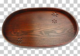 Wood Tray Oval Platter PNG
