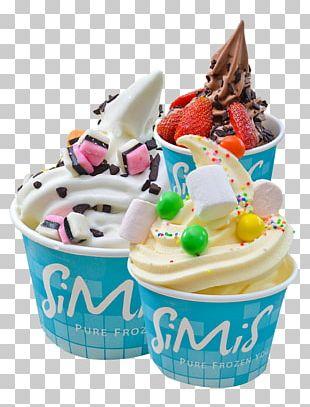 Sundae Frozen Yogurt Ice Cream Cones Milk PNG